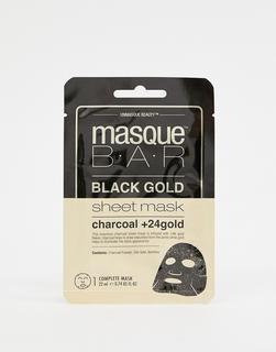 MasqueBAR - Black Gold – Tuchmaske mit Aktivkohle und 24k Gold-Keine Farbe