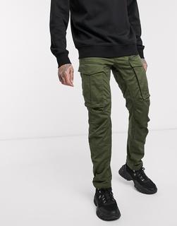 G-Star - Rovic 3D – Hose in regulärer Passform mit schmal zulaufendem Bein und Reißverschluss in Khaki-Grün