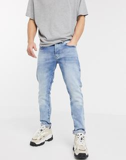 G-Star - G-Bleid– Schmale Jeans in heller Waschung-Blau