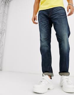 G-Star - D-Staq – Nachhaltige5-Taschen Jeans in mittlerer Waschung und schlanker Passform-Blau