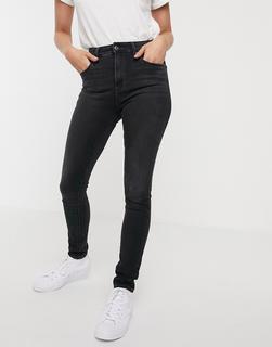 Levis - 721 – Enge Jeans mit hohem Bund-Schwarz
