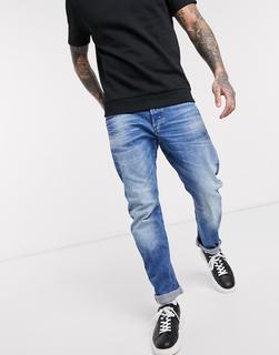 G-Star - Arc 3D – Schmale Jeans in heller Waschung-Blau