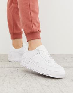 Nike - Air Force 1 Shadow – Sneaker in Dreifach-Weiß