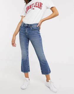 Tommy Jeans - Kurz geschnittene Schlaghose-Blau
