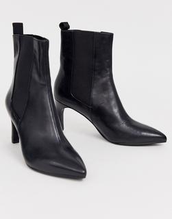Vagabond - Whitney – Ankle-Boots mit Absatz aus schwarzem Leder