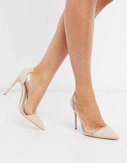 Truffle Collection - Transparente Schuhe mit Stiletto-Absatz-Mehrfarbig