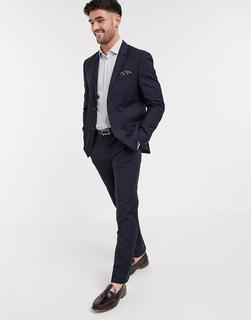 Calvin Klein - Paris – Anzughose aus veredelter Wolle-Navy