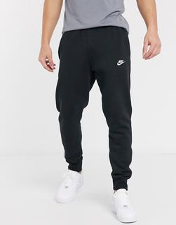 Nike - Club – Schwarze Jogginghose mit Bündchen-Navy