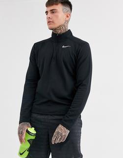Nike Running - Pacer – Schwarzes Sweatshirt mit kurzem Reißverschluss