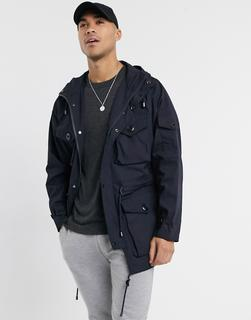 Burton Menswear - Marineblauer Parka-Navy