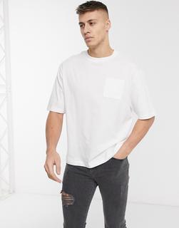 River Island - Kastiges T-Shirt in Weiß
