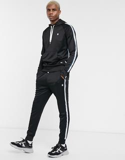 G-Star - Alchesai– Schwarze Jogginghose mit Bandverzierung