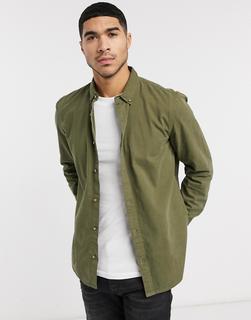 Burton Menswear - Hemd in Khaki-Grün