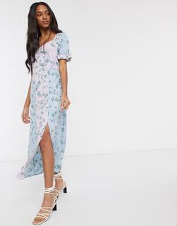 Vero Moda - Maxi-Freizeitkleid mit Blumenmustermix-Mehrfarbig