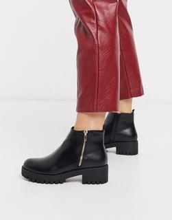 Truffle Collection - Schwarze Stiefel mit seitlichem Reißverschluss