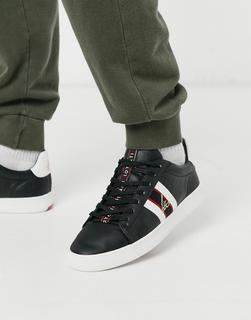 Loyalti - Schwarze Sneaker mit Seitenstreifen