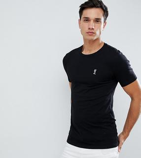 Nike - Tall – Brand Mark – Schwarzes T-Shirt