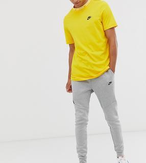 Nike - Tall – Jogginghose aus Tech-Fleece mit Bündchen in Grau