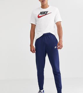 Nike - Tall – Club – Jogginganzug mit engen Bündchen in Marine-Navy