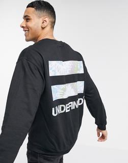 River Island - Schwarzes Sweatshirt mit undefinierbarem Print