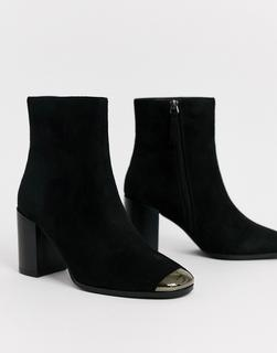 Glamorous - Schwarze Western-Stiefel mit Metalldetails