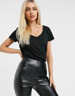 G-Star - T-Shirt mit V-Ausschnitt-Schwarz
