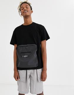 Sixth June - T-Shirt mit großer Tasche in Schwarz