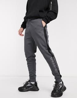 G-Star - Originals – Graue Jogginghose mit seitlichem Logo