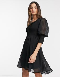 Vero Moda - Minikleid aus schwarzem Netzstoff