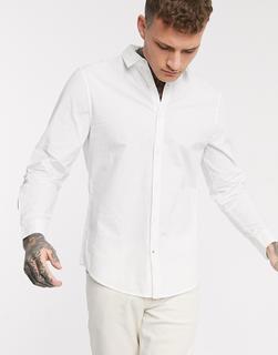 Bershka - Schmales Hemd in Weiß