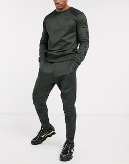 G-Star - Motac – Schmal geschnittene Jogginghose in Khaki-Grün