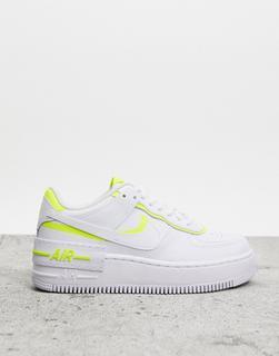 Nike - Air Force 1 Shadow – Sneaker in Weiß und Gold