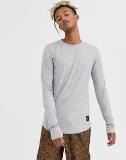 Sixth June - Langärmliges T-Shirt in Grau mit Reißverschluss