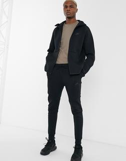 Nike - Schwarze, schmale Funktions-Jogginghose aus Fleece