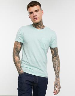 Celio - Kalkiges T-Shirt mit Tasche-Blau