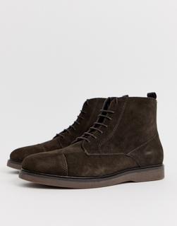 H by Hudson - Calverston – Stiefel aus braunem Wildleder mit Zehenkappe
