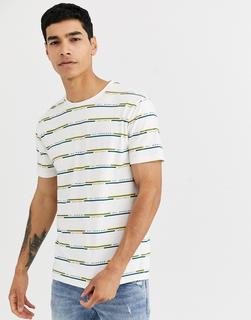 Celio - Bedrucktes T-Shirt in gebrochenem Weiß