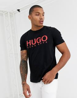 HUGO - Dolive – T-Shirt in Schwarz