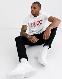 HUGO - Dolive – T-Shirt in Weiß