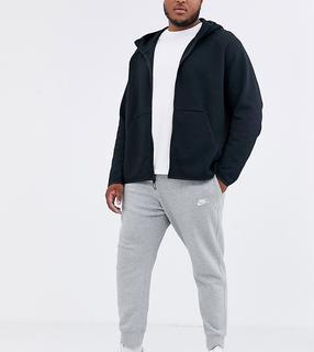 Nike - Plus – Club – Graue Jogginghose mit Bündchen