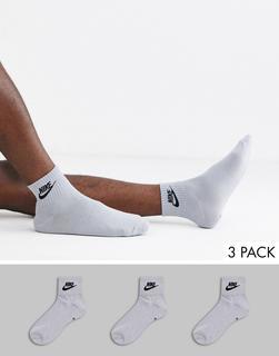 Nike - Evry Essential 3 – Graue Knöchelsocken