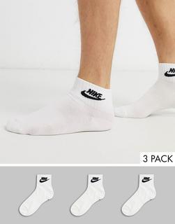Nike - Evry Essential 3 – Weiße Knöchelsocken