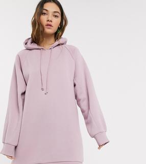 Collusion - Lila Kleid mit Kapuze-Violett