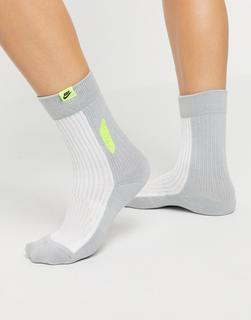 Nike - Air Max 90 – Socken mit Neon-Farbblockdesign-Mehrfarbig