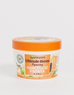 Garnier - Ultimate Blends – Vegane Haar-Behandlung mit Papaya, 3-in-1-Maske für geschädigtes Haar, 390 ml-Keine Farbe