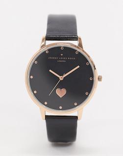 Johnny Loves Rosie - Armbanduhr mit Herzdesign-Schwarz