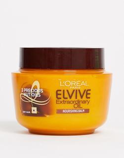L'Oreal Elvive - Extraordinary Oil Hair Mask Pot for Dry Hair, Haarmaske für trockenes Haar, 300 ml-Keine Farbe