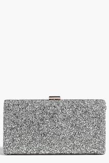 boohoo - Womens Melissa Embellished Box Clutch Bag - Grey - One Size, Grey