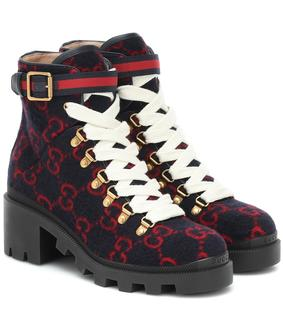 Gucci - Ankle Boots aus Wolle
