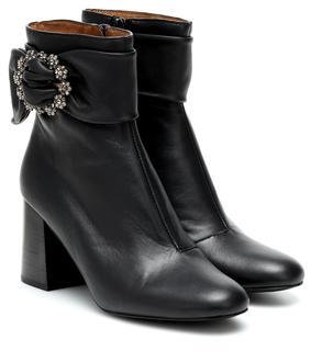 See by Chloé - Verzierte Ankle Boots aus Leder
